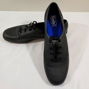 KEDS LEATHER SNEAKERS OXFORDS BLACK LACE SIZE 11S
